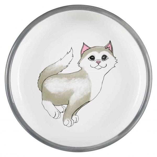 Trixie Ceramic Cat Bowl Top View