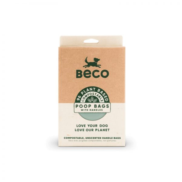 Beco Compostable Dog Poo Bags with Handles 96